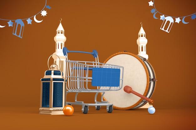 Ramadan koszyk makieta