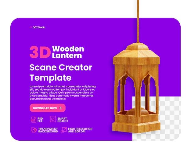 Ramadan latarnia kreatywny projekt na białym tle