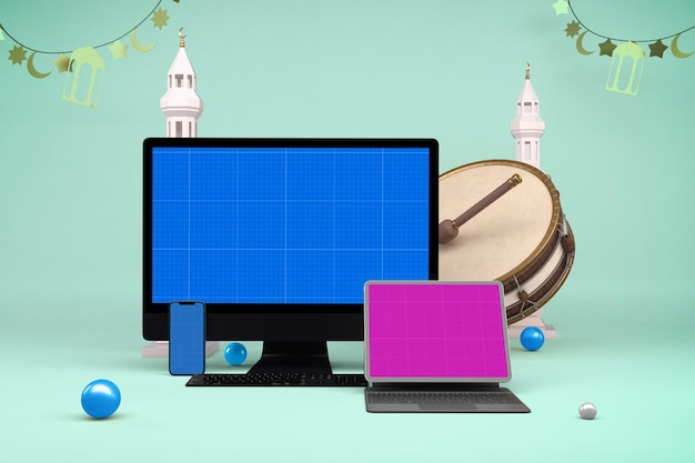 Ramadan responsive mockup design