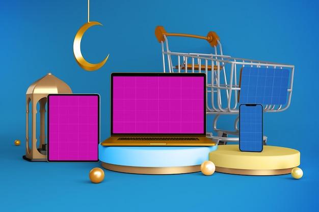 Ramadan responsive shopping makieta