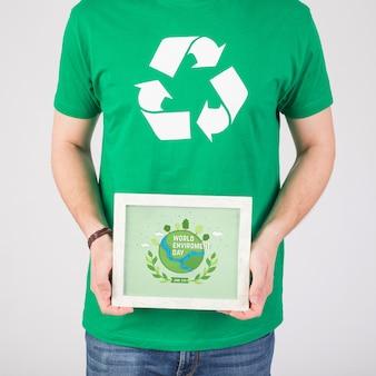 Ramka makieta świata środowiska dzień