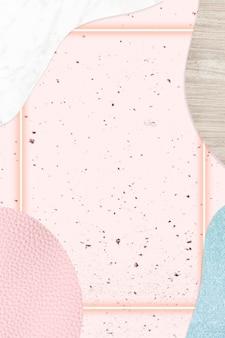 Ramka na różowym i niebieskim kolażu z teksturą tła ilustracji