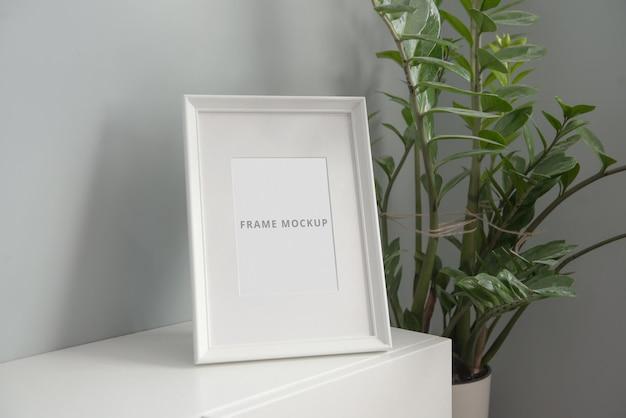 Ramka na zdjęcia makieta minimalistyczne wnętrze