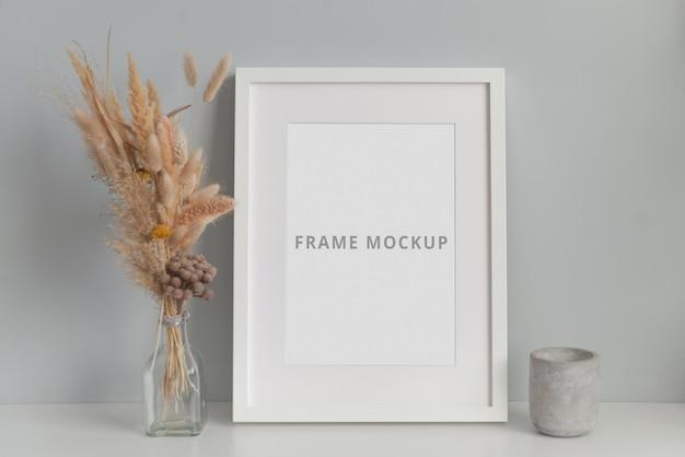 Ramka na zdjęcia makieta minimalne wnętrze