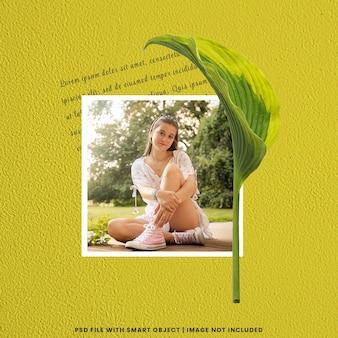 Ramka na zdjęcia makieta polaroid premium psd