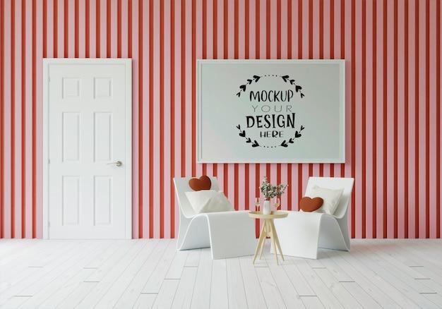 Ramka plakatowa w salonie