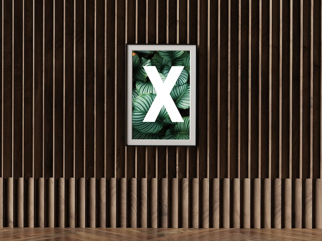 Ramka z pojedynczym plakatem na ścianie