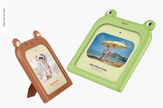 Ramki do zdjęć dla dzieci makieta, pływające