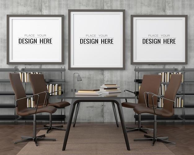 Ramki plakatowe w biurze