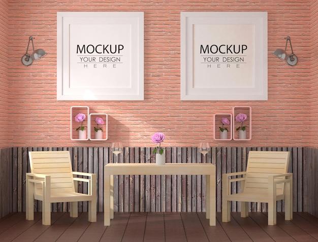 Ramki plakatowe w salonie
