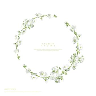Ramki z pięknymi kwiatami
