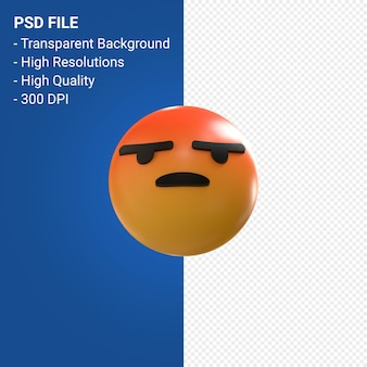 Reakcje emoji 3d na facebooku, takie jak izolowane