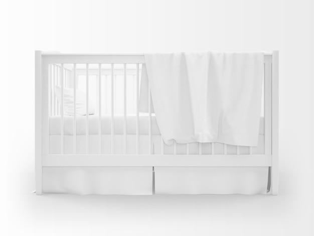 Realistyczna biała kołyska na białym tle