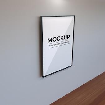 Realistyczna duża ramka do makiety fotografii