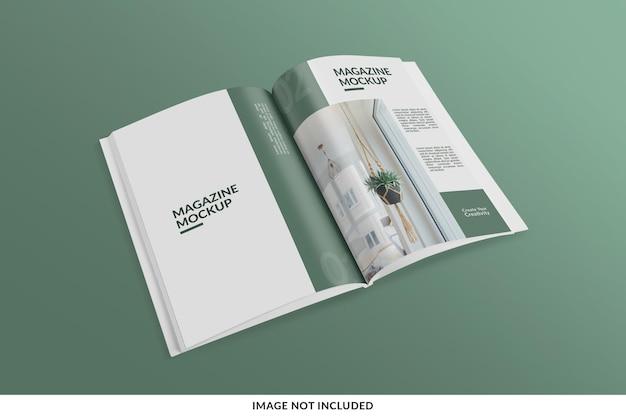 Realistyczna i kreatywna makieta magazynu lub katalogu