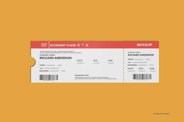 Realistyczna makieta biletu