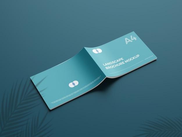 Realistyczna makieta broszury a4 landcape 5