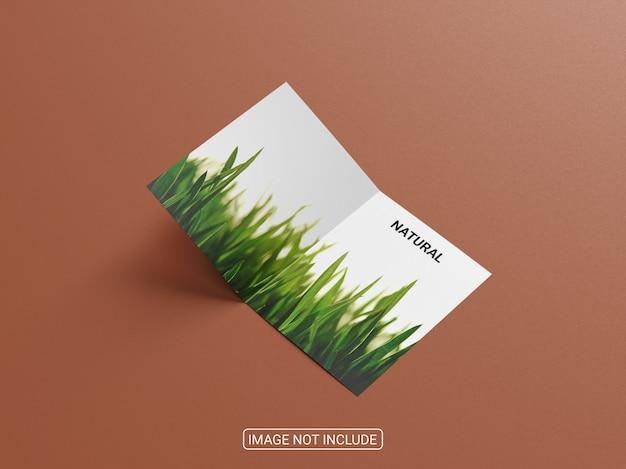 Realistyczna makieta broszury bifold