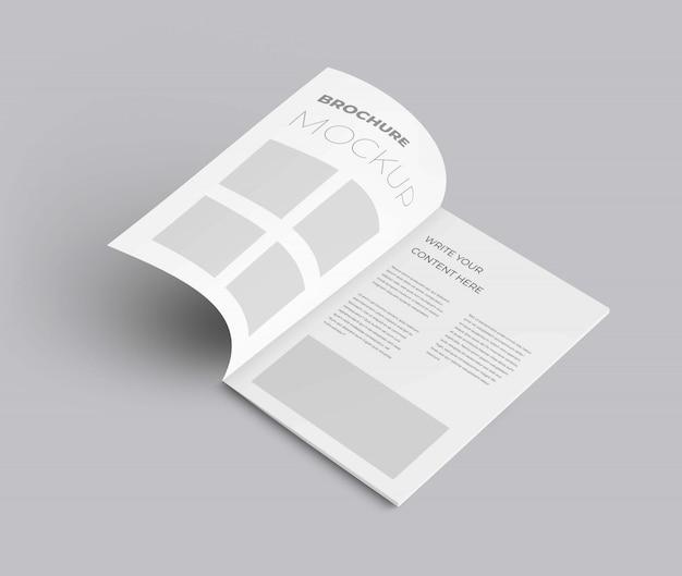 Realistyczna makieta broszury