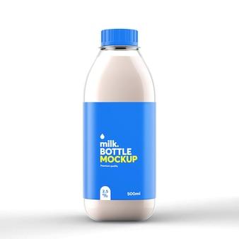 Realistyczna makieta butelki mleka