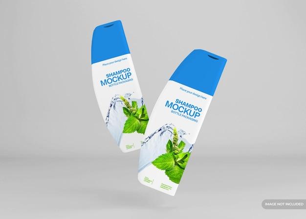 Realistyczna makieta butelki szamponu kosmetycznego