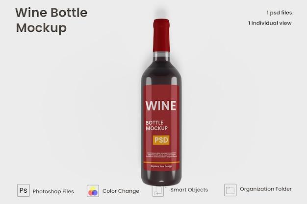 Realistyczna makieta butelki wina