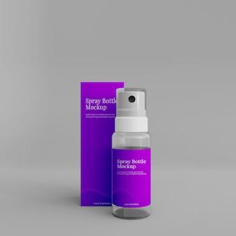 Realistyczna makieta butelki z rozpylaczem
