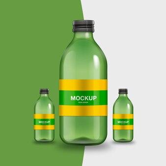 Realistyczna makieta butelki
