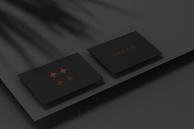 Realistyczna makieta ciemnej wizytówki