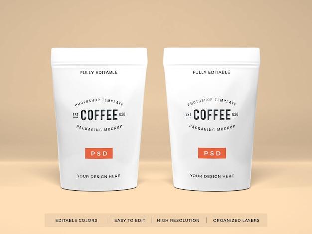 Realistyczna makieta do pakowania kawy