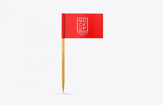 Realistyczna makieta flagi wyboru zęba