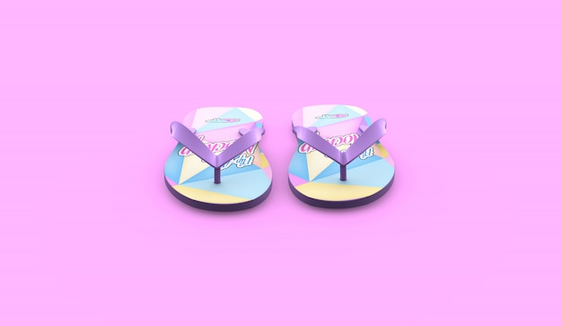 Realistyczna makieta flip-flop
