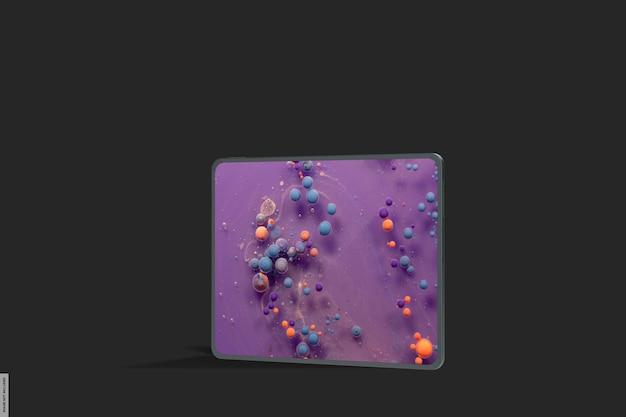 Realistyczna makieta inteligentnego tabletu z ciemnym światłem