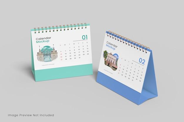 Realistyczna makieta kalendarza na biurko renderowanie 3d