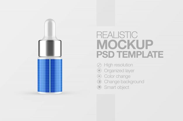 Realistyczna makieta kosmetycznego serum do butelek