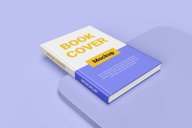 Realistyczna makieta książki w twardej okładce