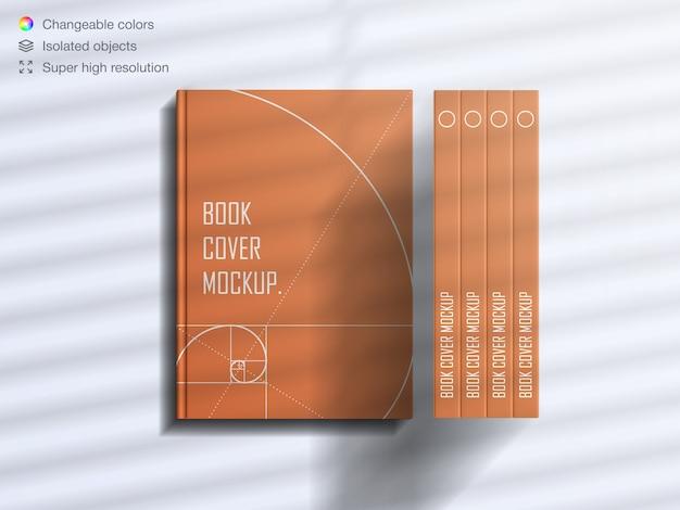 Realistyczna makieta książki w twardej oprawie z widokiem z góry
