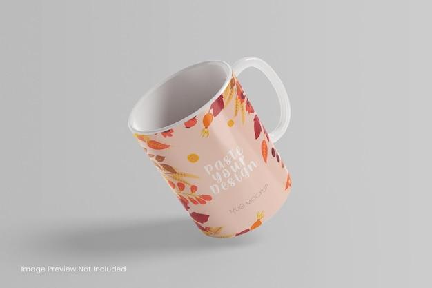 Realistyczna makieta kubka do kawy