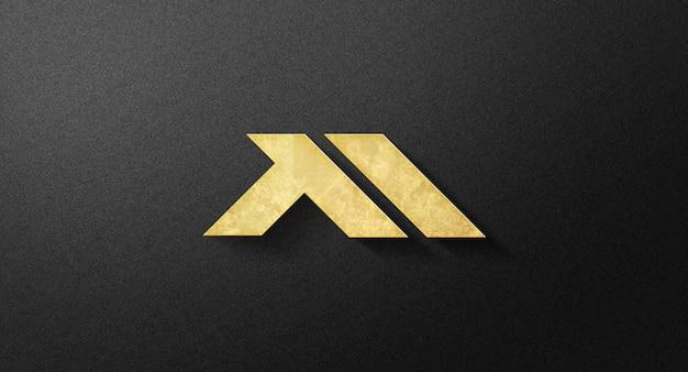 Realistyczna makieta logo ściany 3d