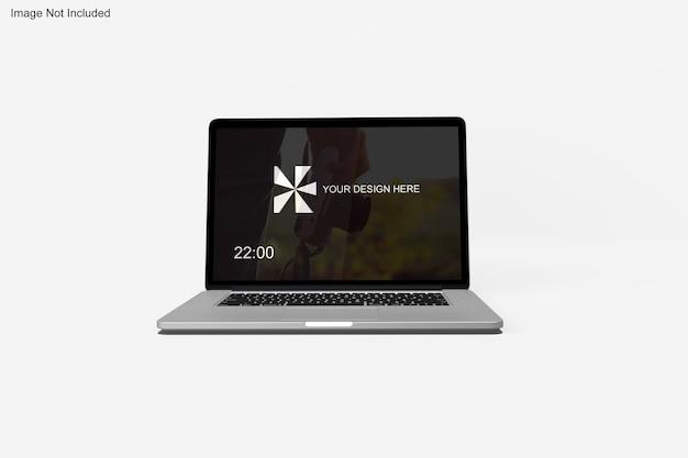 Realistyczna makieta macbooka
