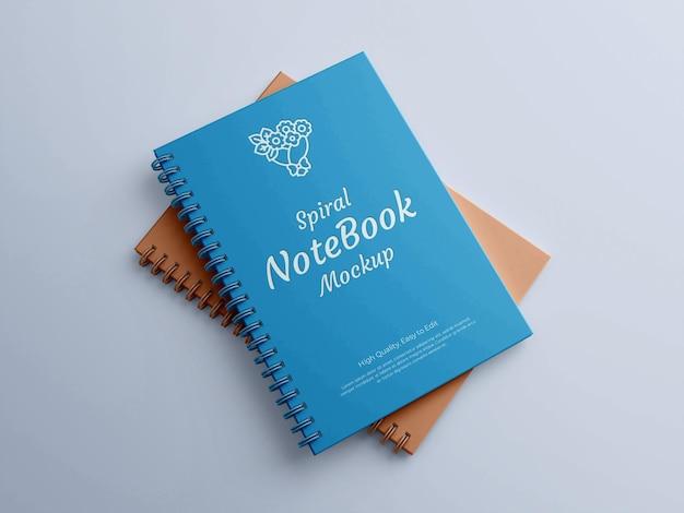 Realistyczna makieta notatnika spiralnego