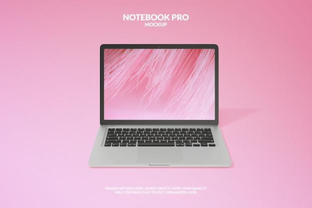Realistyczna makieta notebooka premium pro