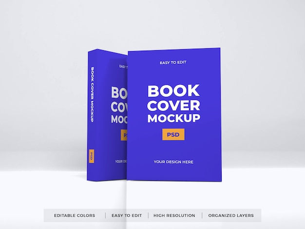 Realistyczna makieta okładki książki