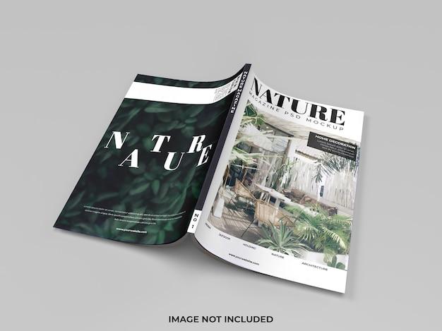 Realistyczna makieta okładki magazynu na białym tle