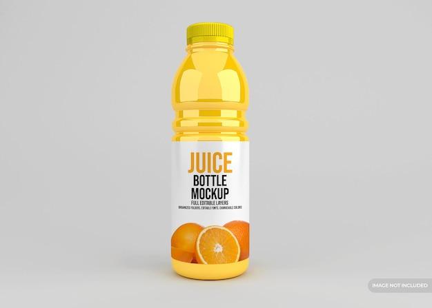 Realistyczna makieta opakowania szklanej butelki soku