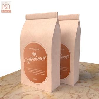 Realistyczna makieta papierowej torby na żywność