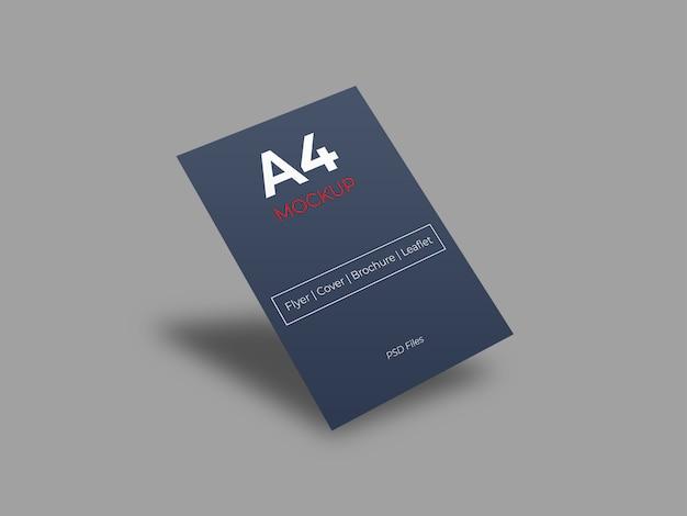 Realistyczna makieta papieru a4