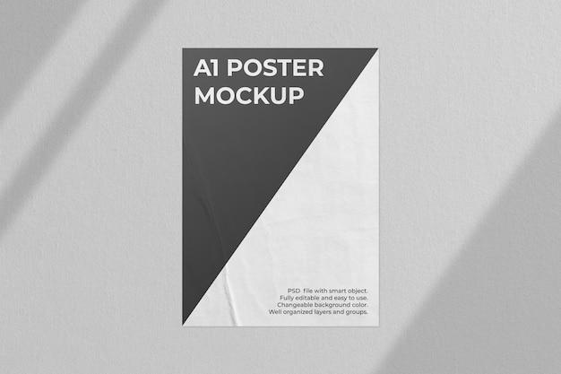 Realistyczna makieta plakatu z nakładką cienia
