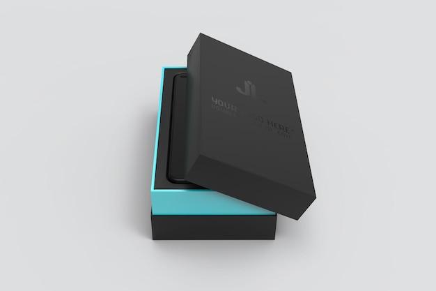Realistyczna makieta pudełka na smartfona