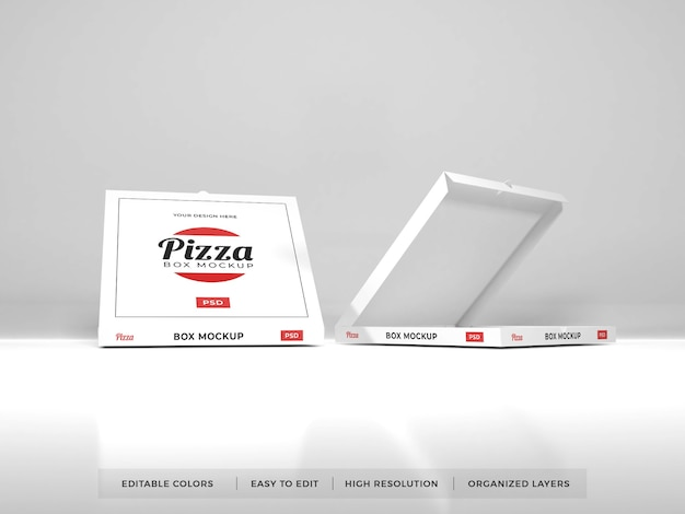 Realistyczna makieta pudełka po pizzy